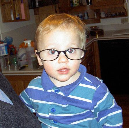Weston in glasses.