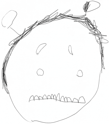 sad monster with earwax by Conrad