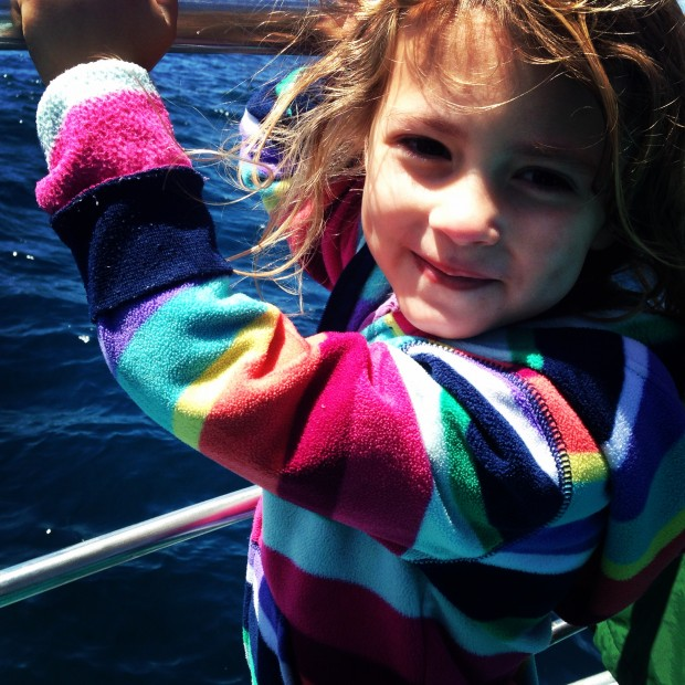 cute kid on a boat